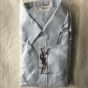 NWT VINTAGE YVES SAINT LAURENT LOGO DRESS SHIRT